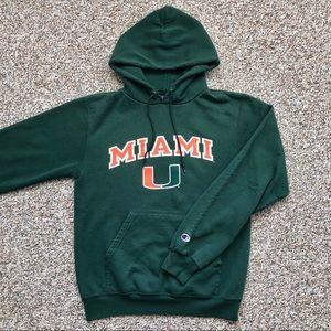 Champion Miami Hurricanes hoodie sweatshirt S